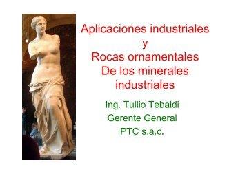 Aplicaciones industriales y Rocas ornamentales De los minerales ...