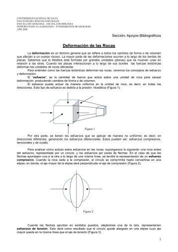 Deformación de las Rocas - Universidad Nacional de Salta