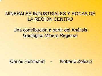 minerales industriales y rocas de la región centro - SEGEMAR