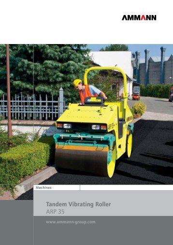 Tandem Vibrating Roller ARP 35 - Ammann
