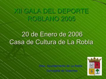 XII GALA DEL DEPORTE ROBLANO - PSOE de LEON.