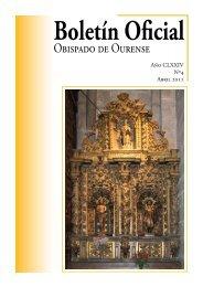 Boletín Oficial del Obispado de Ourense - Abril 2011