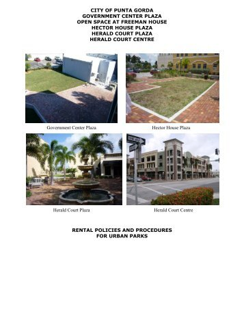 Urban Park Applicantion & Policy - City of Punta Gorda