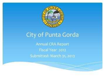 (CRA) Annual Report - City of Punta Gorda