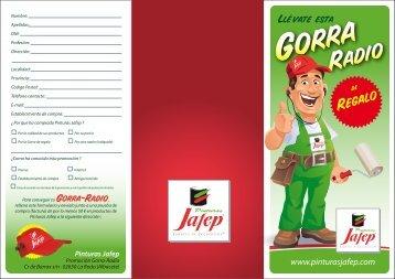 JAFEP TRIPTICO GORRA - Pinturas JAFEP
