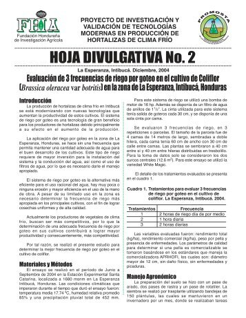 Hoja Divulgativa 2 - FHIA