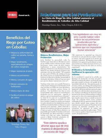 Beneficios del Riego por Goteo en Cebollas: - Toro Media