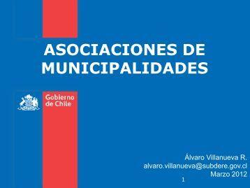 ASOCIACIONES DE MUNICIPALIDADES - Subdere