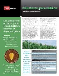 Riego por goteo para maíz - Toro Media