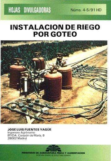 INSTALACION DE RI iEGO POR GOTEO - Ministerio de Agricultura ...