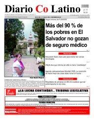 Más del 90 % de los pobres en El Salvador no gozan de seguro ...