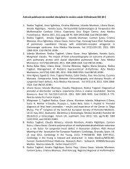 Articole publicate de membrii disciplinei în reviste cotate ISI/indexate ...