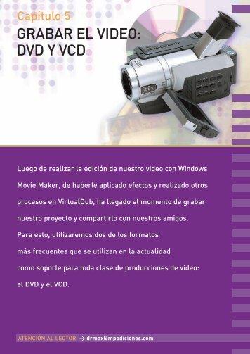 GRABAR EL VIDEO: DVD Y VCD - RedUSERS