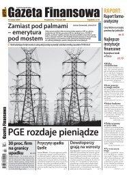 Gazeta Finansowa 30 października – 5 listopada ... - Poland Securities