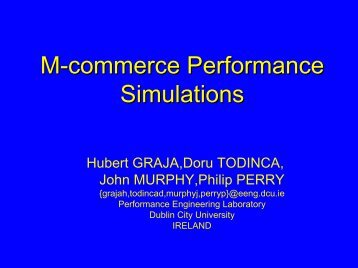 M-commerce Performance Simulations