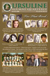Alumni Quarterly - Ursuline High School
