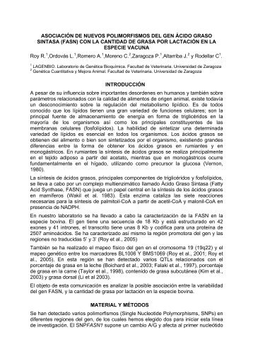 ASOCIACIÓN DE NUEVOS POLIMORFISMOS EN EL GEN ... - acteon