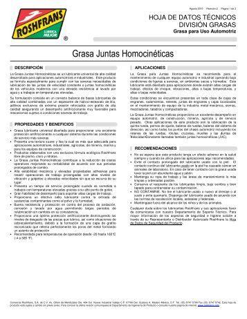 Grasa Juntas Homocinéticas - Roshfrans
