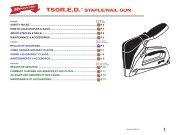 T50R.E.D.™ STAPLE/NAIL GUN - Axminster Power Tool Centre