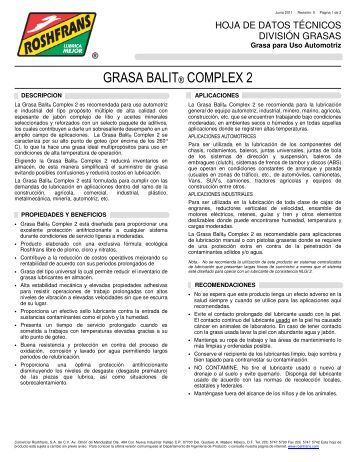 GRASA BALIT® COMPLEX 2 - Roshfrans