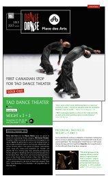tao danCe theater - Danse Danse