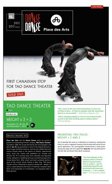 tao danCe theater - Danse Danse