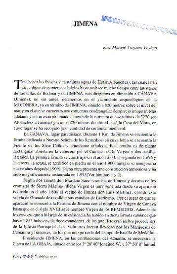 Jimena. José Manuel Troyano Viedma - colectivo de investigación ...