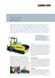Raupenfertiger AFT 500 E/G