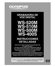 instrucciones detalladas grabadora de voz digital - Olympus America