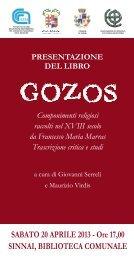 Inviti Gozos.CDR - Istituto di Storia dell'Europa Mediterranea - Cnr