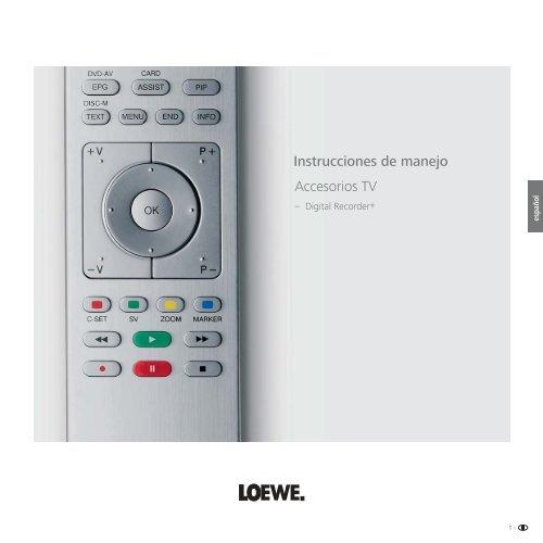 Instrucciones de manejo Accesorios TV - Loewe