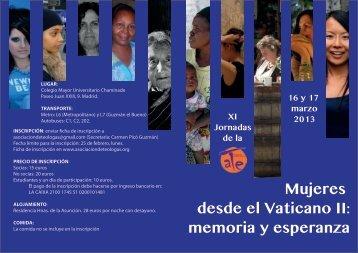 Mujeres desde el Vaticano II: memoria y esperanza - Vitaetpax
