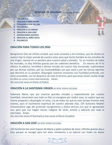Novena de aguinaldos - Bienvenidos a Agua Lukas