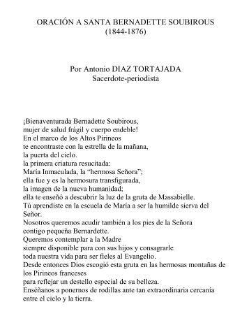 Oración a Santa Bernadette Soubirous - Autores Catolicos