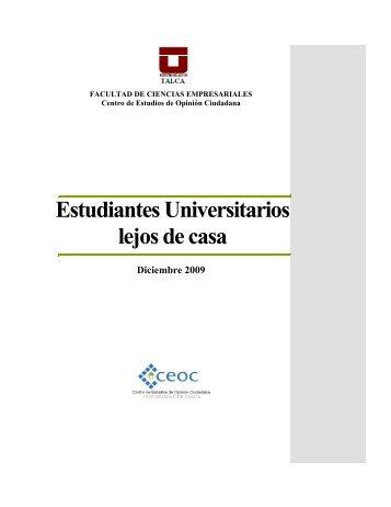 Estudiantes Universitarios lejos de casa - CEOC