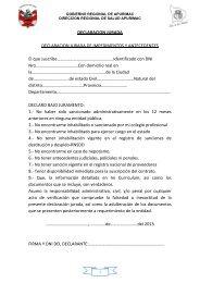 Bajar y/o Imprimir Declaracion jurada - Direccion Regional de Salud ...