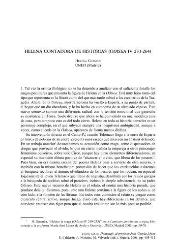 helena contadora de historias (odisea iv 233-264) - InterClassica