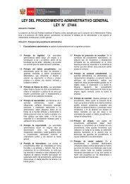 ley del procedimiento administrativo general ley n° 27444