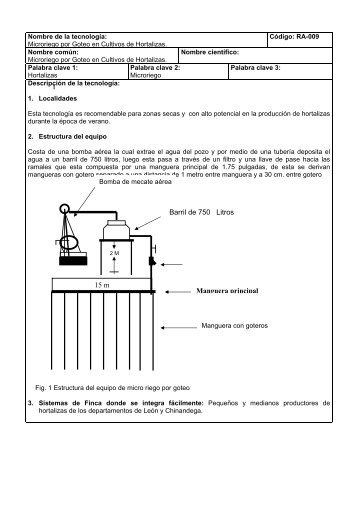 Microriego por Goteo en Cultivos de Hortalizas - funica