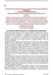 La presunción de veracidad de las denuncias por infracciones de ...