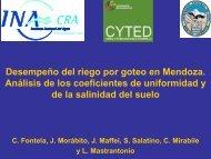 Desempeño del riego por goteo en Mendoza. Análisis de los ...