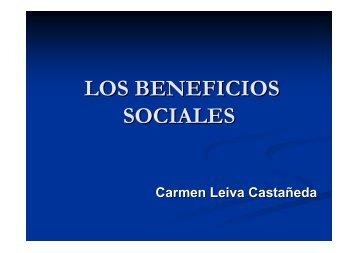 LOS BENEFICIOS SOCIALES - Plades