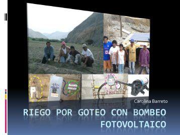 RIEGO POR GOTEO CON BOMBEO FOTOVOLTAICO