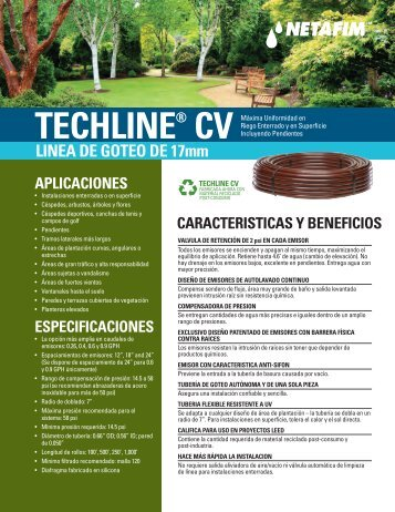 techline® cv - Netafim USA