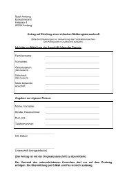 Antrag auf Erteilung einer einfachen ... - Stadt Amberg