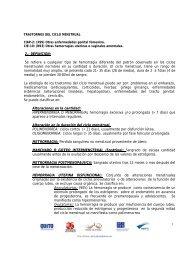 MANCHADO O GOTEO INTERMENSTRUAL ... - Salud de Altura