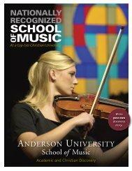 SOM Viewbook [PDF] - Anderson University