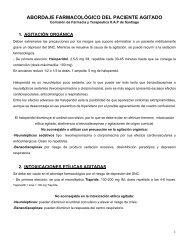 ABORDAJE FARMACOLÓGICO DEL PACIENTE AGITADO - Sergas