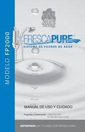 Manual de Uso y Cuidado del Filtro Ducha ... - Royal Prestige