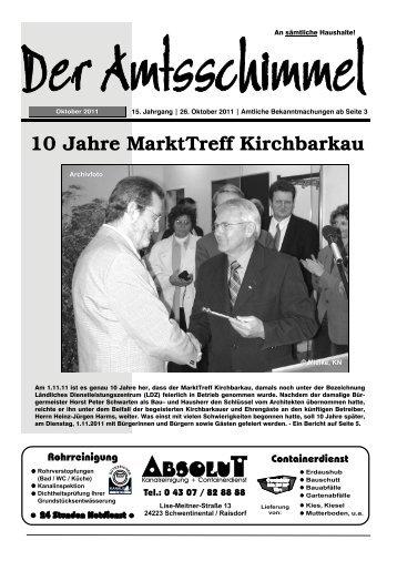 10 Jahre Markttreff Kirchbarkau - Amt Preetz Land